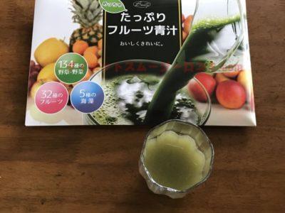 めっちゃたっぷりフルーツ青汁 味