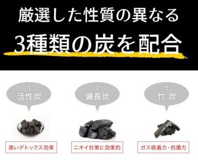 ウルトラチャコール 炭成分